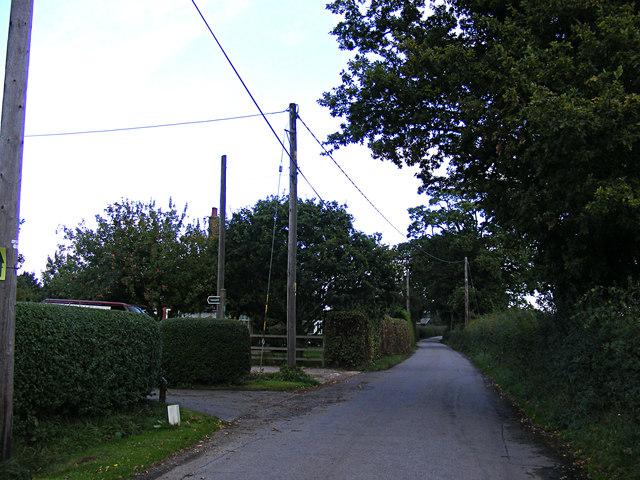 Wenham Road & footpath