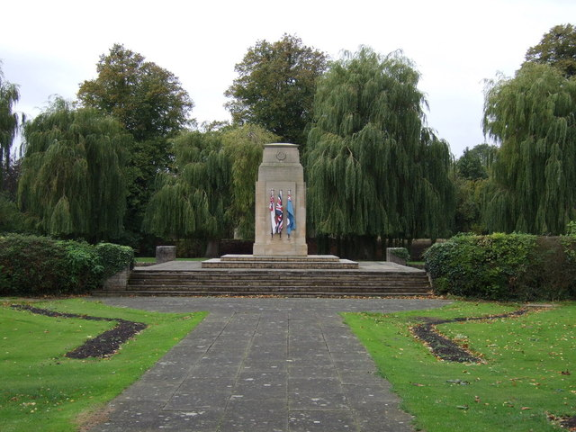 War Memorial and park, Bourne