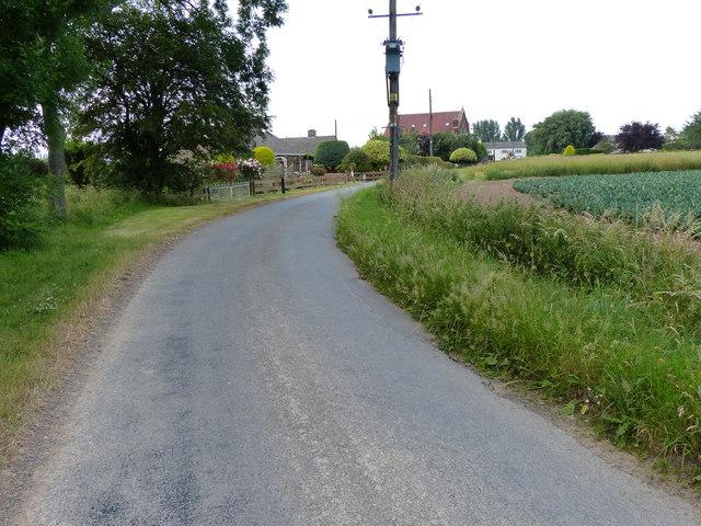 Marsh Road in Skeldyke