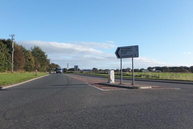 The A197 to Newbiggin