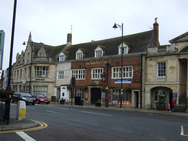The Burghley Arms pub, Bourne