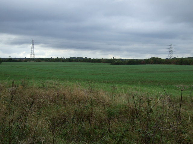 Farmland on the outskirts of Bourne