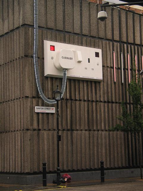 Giant Plug and Socket installation, near Carnaby Street
