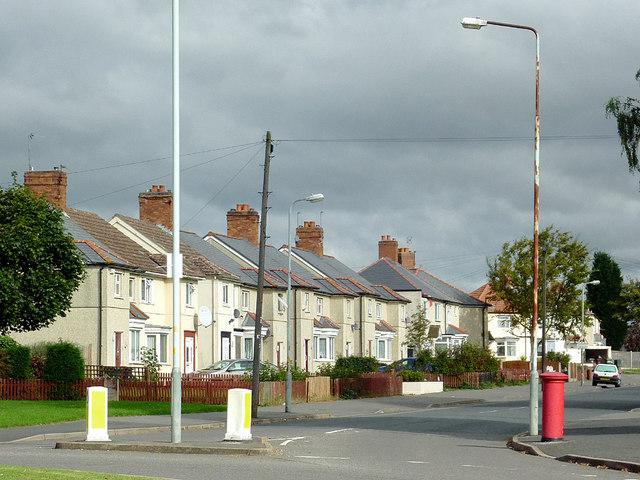 Housing in Ruskin Road, Old Fallings, Wolverhampton