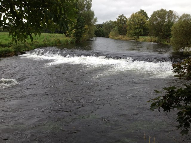 Weir on the River Eden