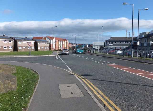 Housing by Wansbeck Hospital