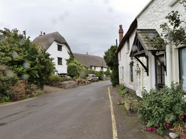 Cottages on a road peculiarly named Dunster Steep, Porlock Weir