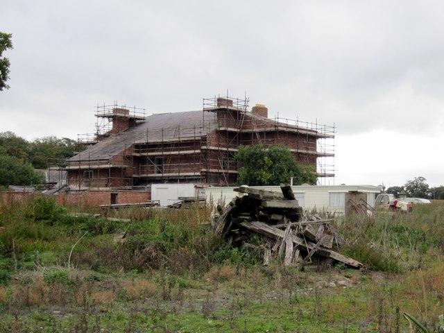 Calveley Hall Under Renovation