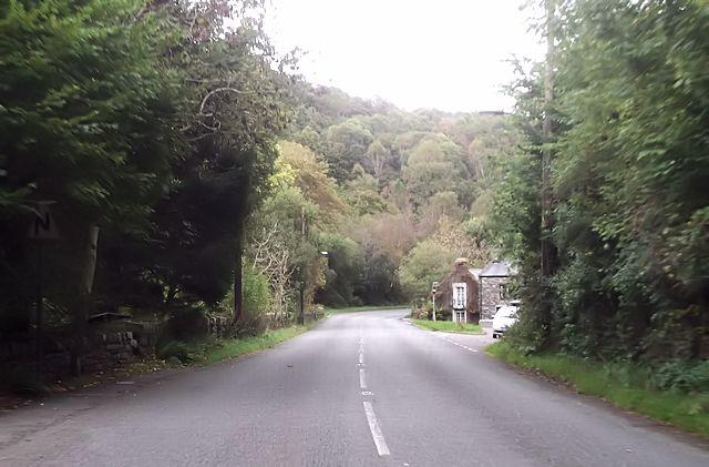 A496 approaching Rhyd-y-sarn