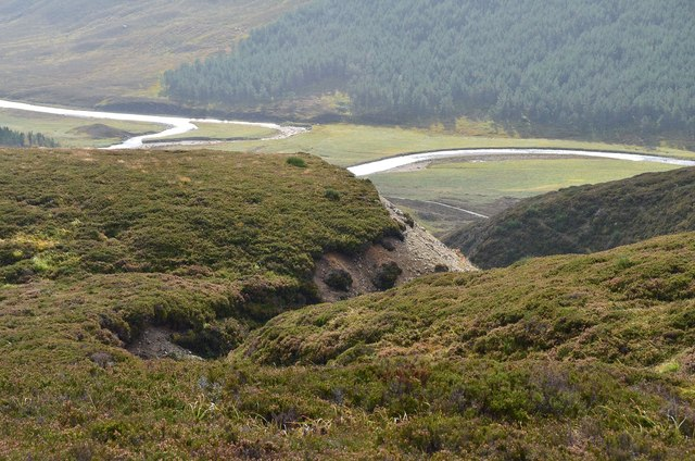 Eroded course of the Allt a' Mhadaidh