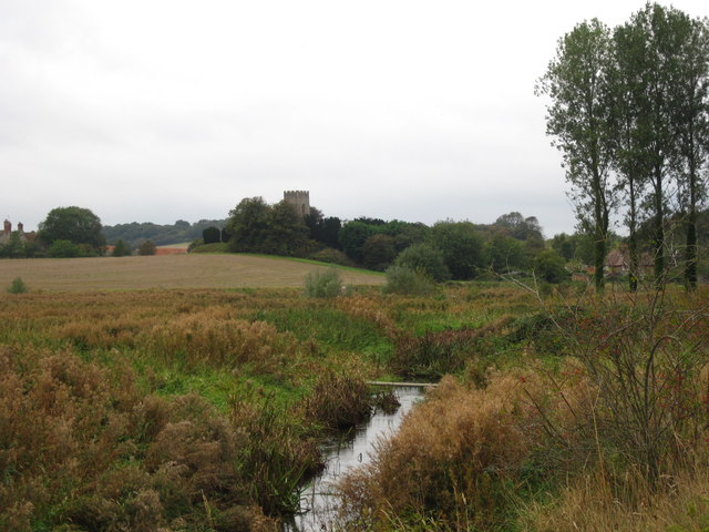 Glandford Church from the path by the River Glaven