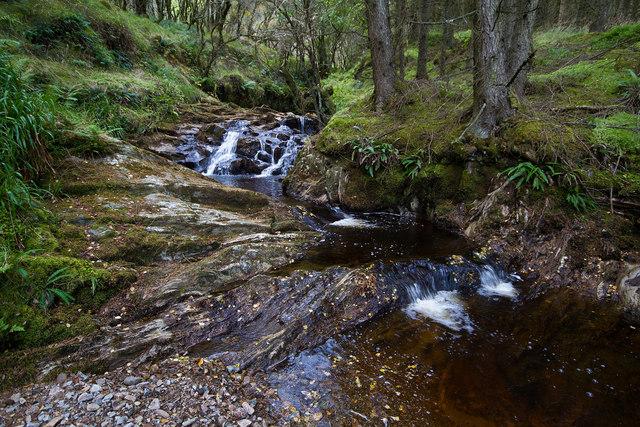 Waterfalls on Allt Starraidh