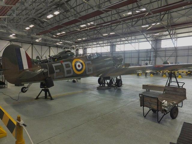 Battle of Britain Spitfire P7350 (Mk IIa) - starboard side