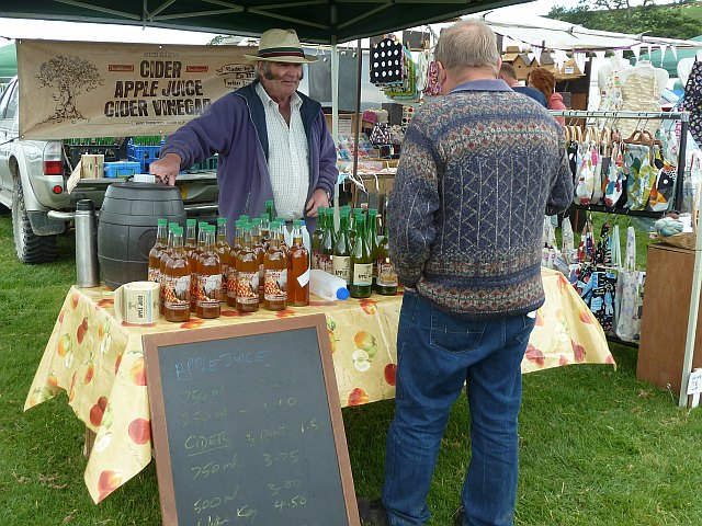Berriew Cider stand at Llanfair Show