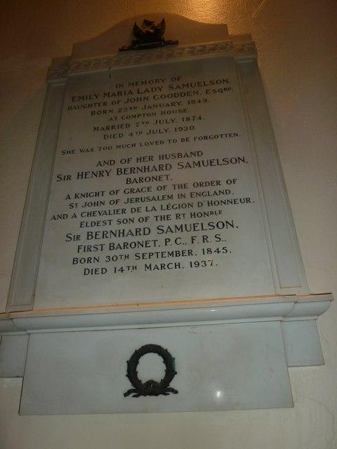 St. Michael, Over Compton: memorial (V)