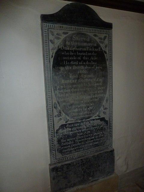St. Michael, Over Compton: memorial (VI)
