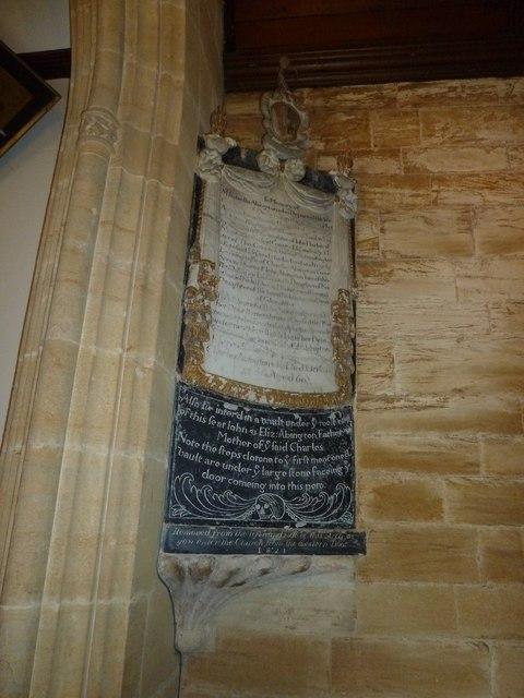 St. Michael, Over Compton: memorial (IX)
