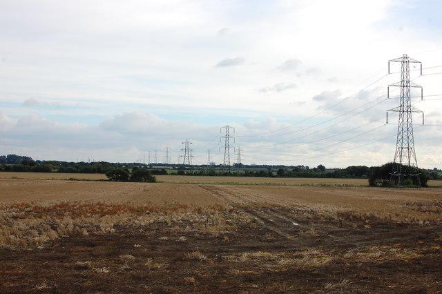 Orsett Fen - power line