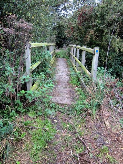 Footbridge over Golborne Brook