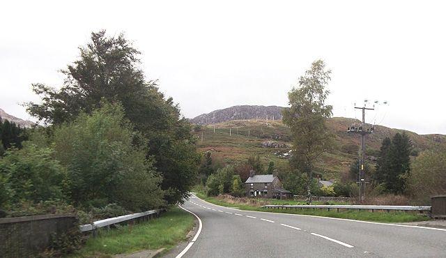 A496 from Ty'n-y-cefn