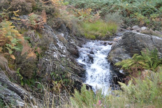 Waterfall from level crossing