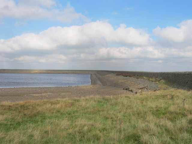 The eastern end of Smiddy Shaw Reservoir