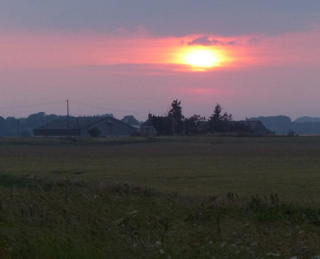 Sunset over White House Farm