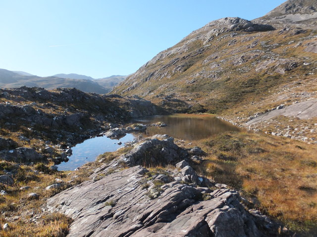Small lochan to east of Sgùrr Dubh