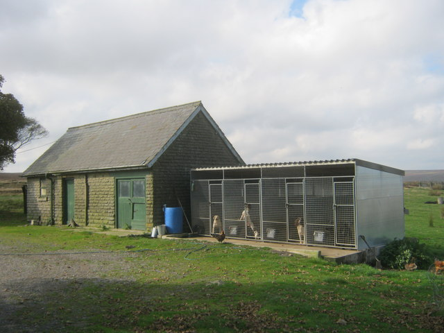 Outbuildings and kennels at Smiddy Shaw House