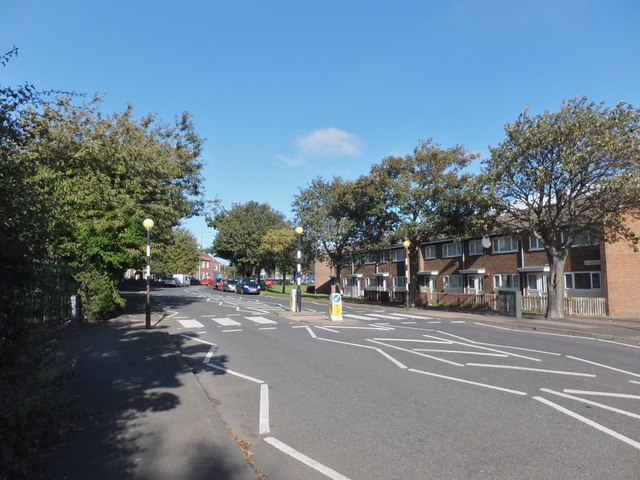 Pedestrian crossing on Woodhorn Lane