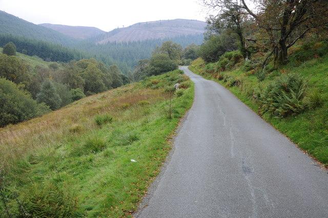 Mountain road above Afon Eiddaw