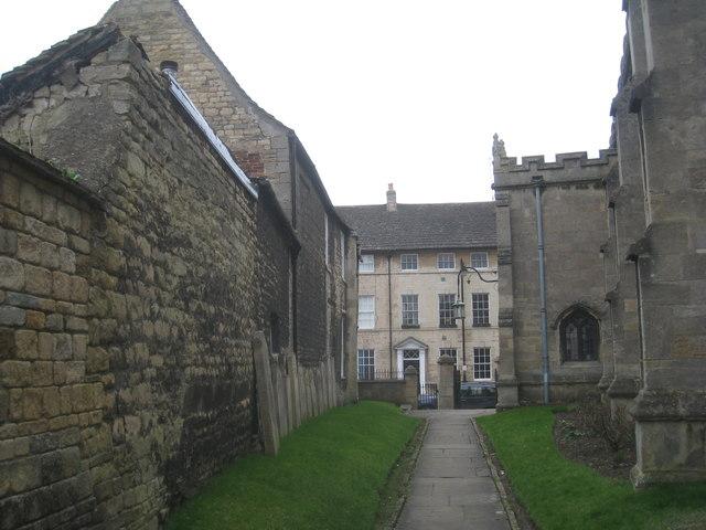 St. Martin's churchyard looking towards High Street, St. Martin's