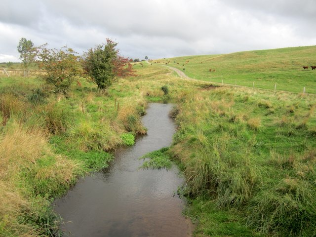 Looking upstream from a bridge over the Hetton Burn