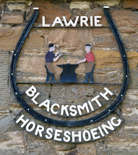 A blacksmith sign at St Boswells