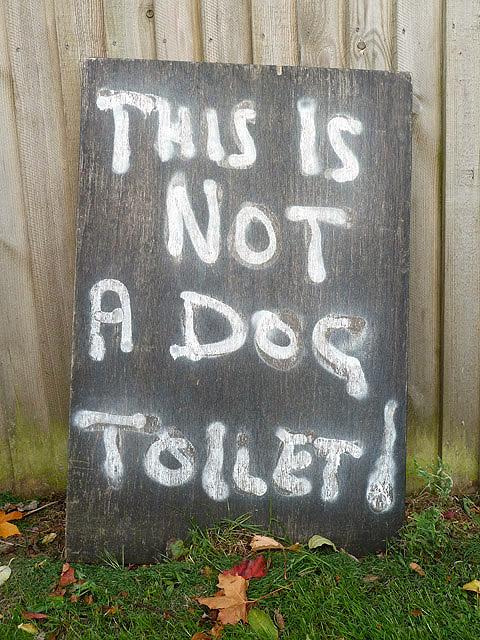 No dog poo here please