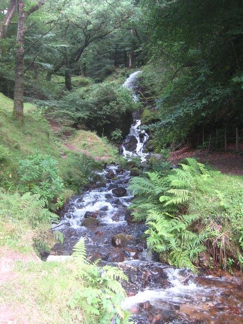 Waterfall on the edge of Burrator Reservoir