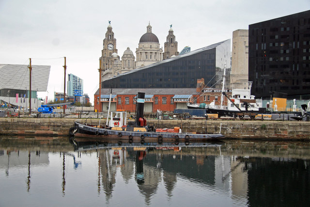 Liverpool - Canning Half-tide Dock and Pier Head