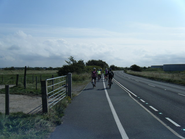 Marine Drive near Crossens Marsh