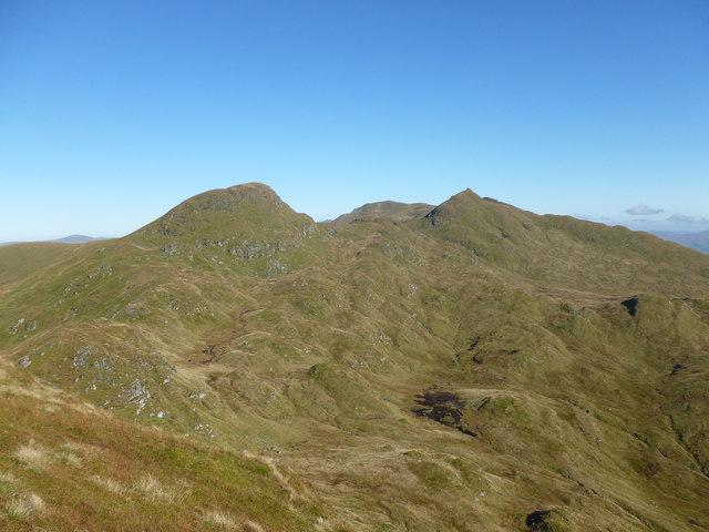 The main tops of the Tarmachan Ridge