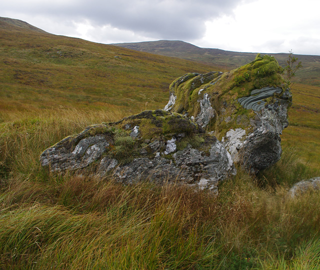 Boulder below Beinn Bhreac