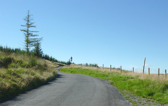 Mountain road to Tregaron, Powys