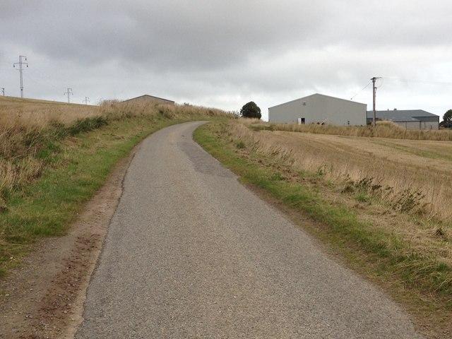 Minor road near Millcraig Farm