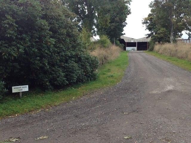 Farm entrance to Newmore Mains