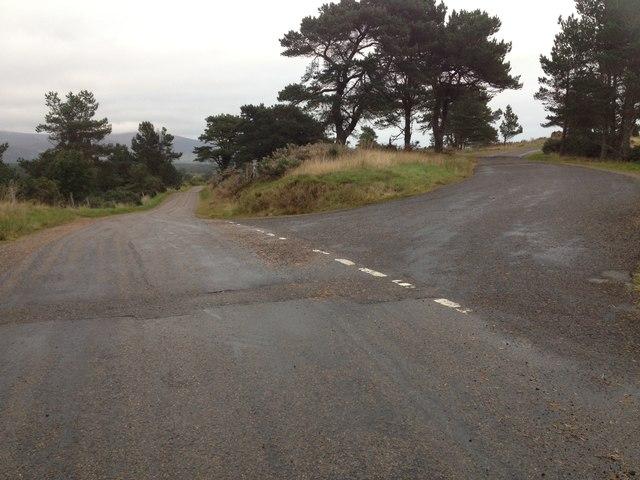Road junction at Londornach