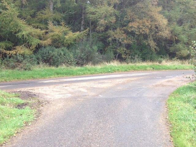 Road junction near Badninish