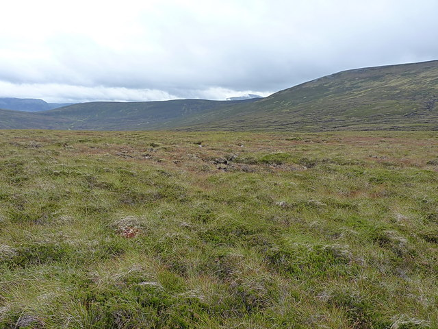 Downhill into the Bynack Burn's coire