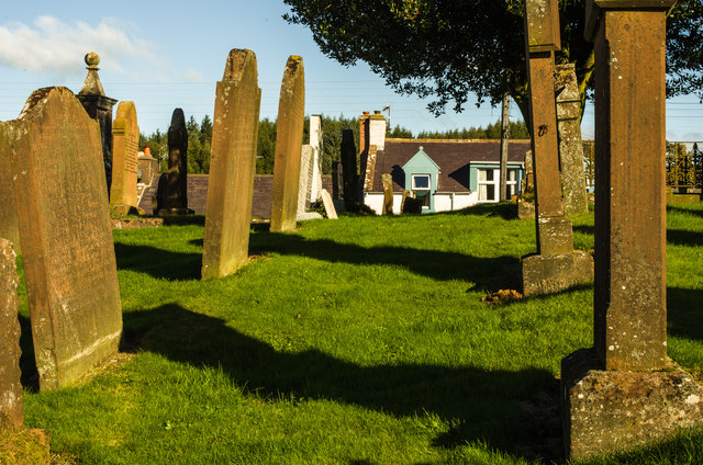 Looking across Dunscore Kirkyard