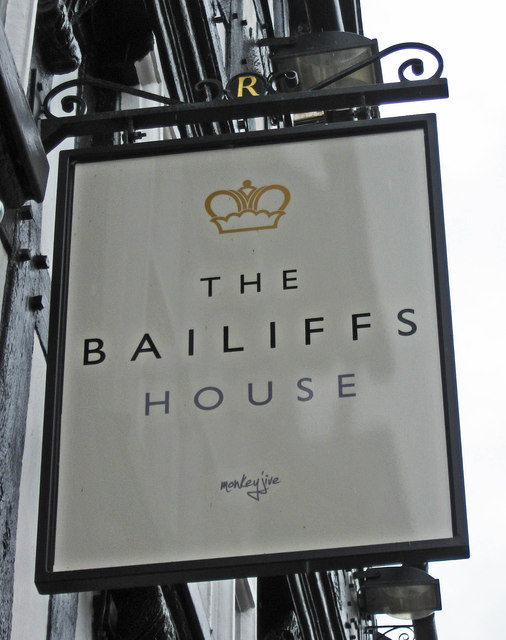 The Bailiff's House (2) - sign, 68 & 69 High Street, Bewdley, Worcs