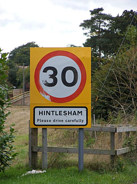 Hintlesham name sign
