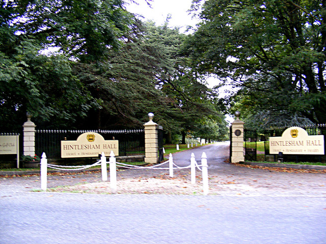 Entrance to Hintlesham Hall